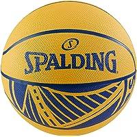 "Spalding NBA Courtside 29.5"" Basketball-Golden State Warriors, Blue, Yellow, Size 7 (71194A)"