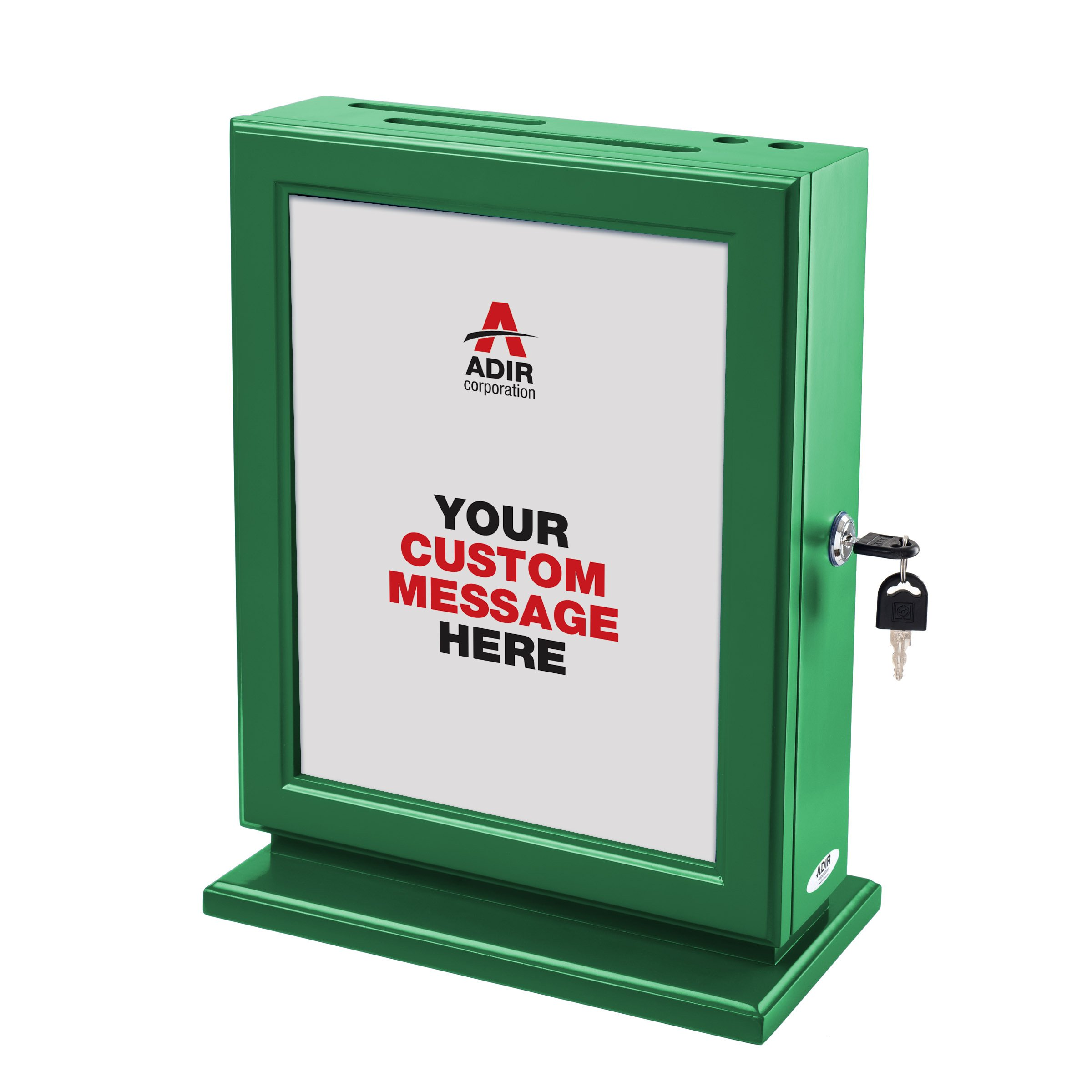 Adir Customizable Wood Suggestion Box - Green - with 25 Suggestion Cards