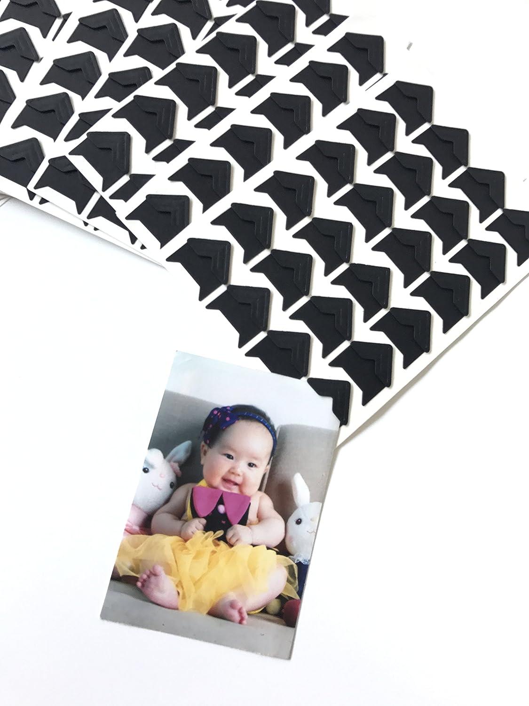 VEEPPO 240pcs Photo Mounting Corners Self Adhesive Paper for Photo Book Scrapbook (White)