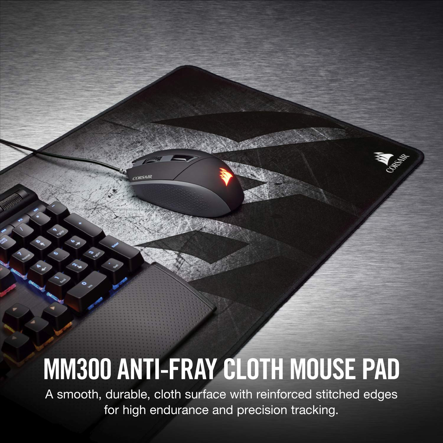 9ffe2d7eaa3 Corsair Gaming MM300 Extended Anti-Fray Cloth Gaming Mouse Mat - Black:  Amazon.co.uk: Computers & Accessories