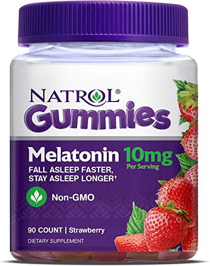 Amazon.com: Natrol Melatonina goma, 90 unidades, 7331, 10MG ...