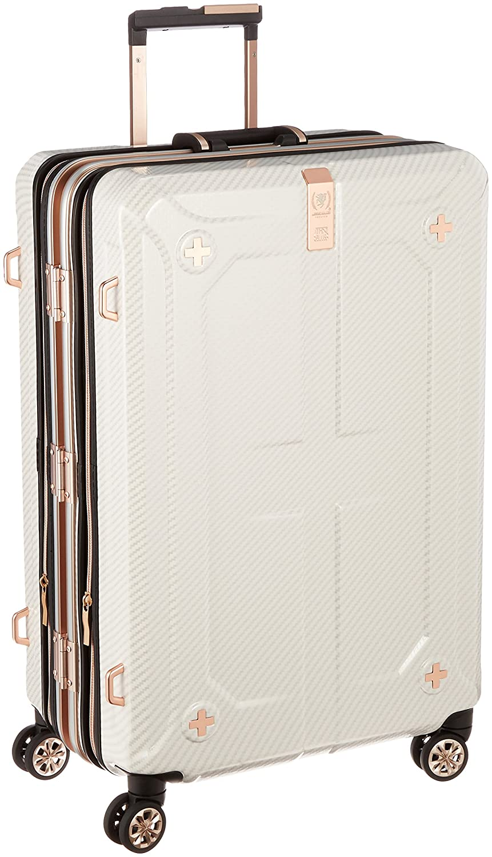 [レジェンドウォーカー プレミアム] スーツケース ダブル拡張機能搭載 90L(最大120L) 69cm 7.2kg保証付 90L 69cm 7.2kg 6707-69 B01LCFH19Yラフカーボンホワイトシルバー