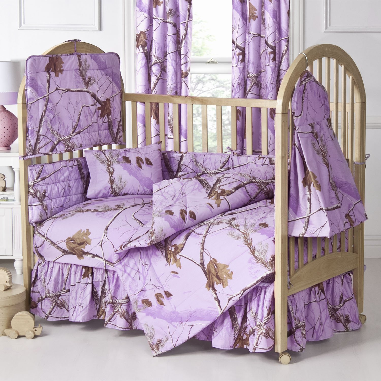 Amazon Realtree AP Lavender Camo 6 piece Crib Set Other