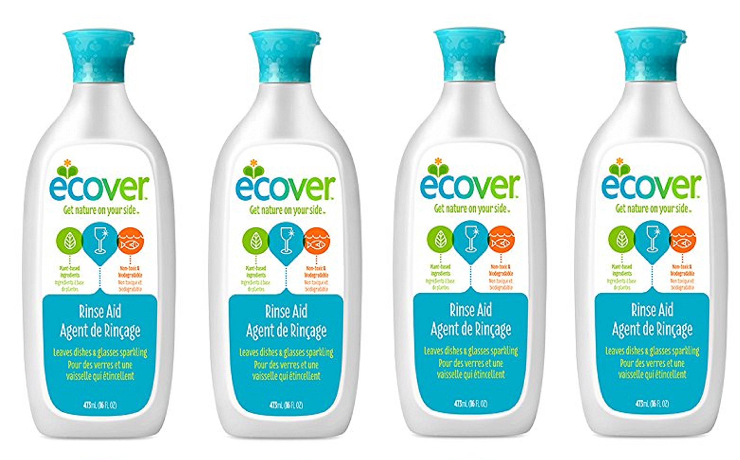 Ecover Naturally Derived Rinse lnYRAg Aid for Dishwashers, 16 Ounce (Pack of 4)