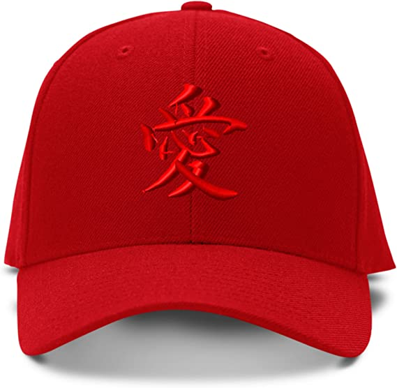 JAPANESE COURAGE Embroidery Embroidered Adjustable Hat Baseball Cap