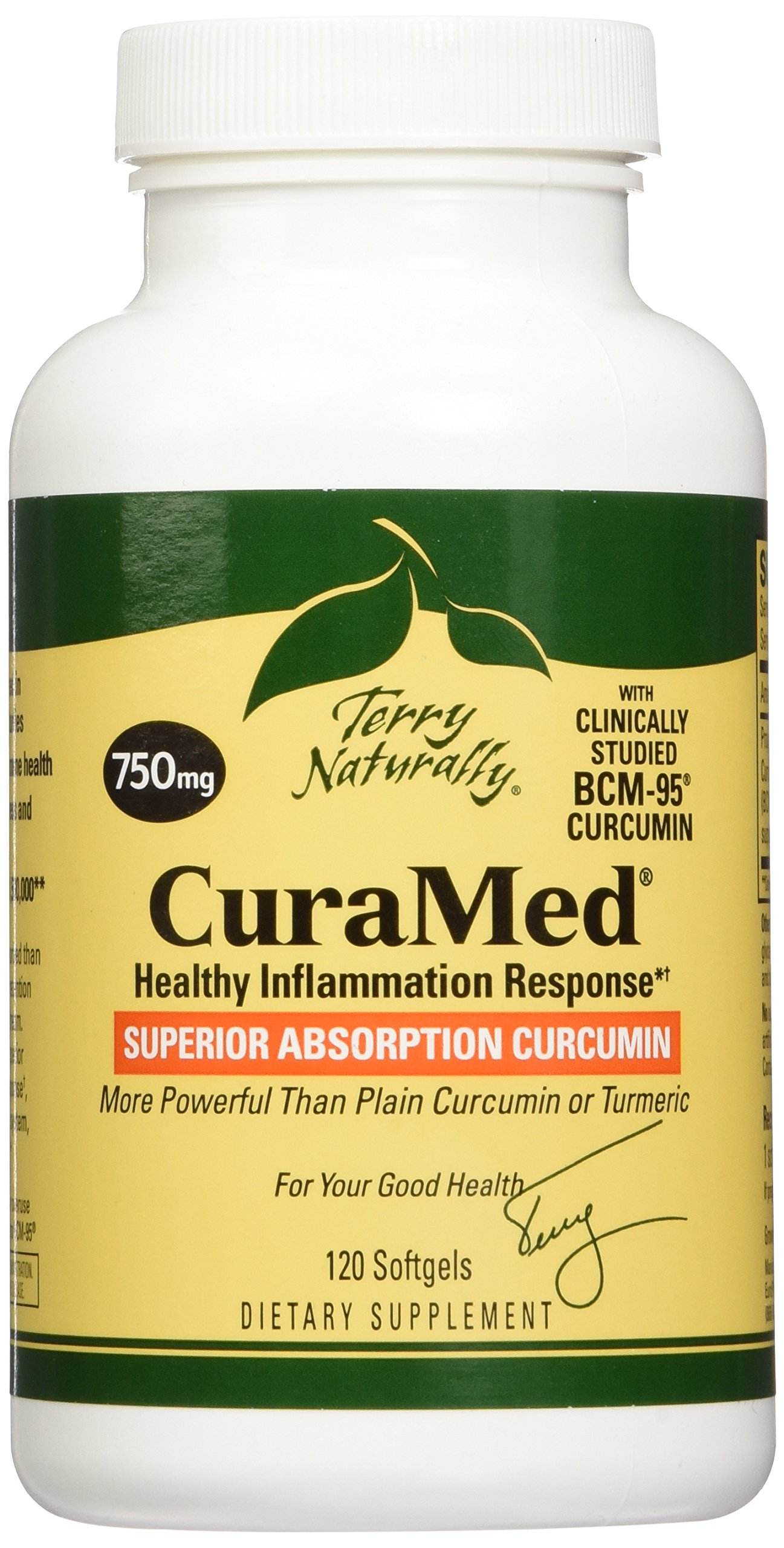 Terry Naturally CuraMed  More Powerful Than Turmeric 750 mg 120 Softgels