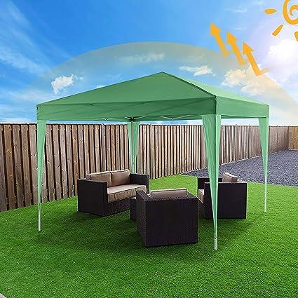 Bunao Carpa con Paredes 3x3 m | Plegable, Impermeable, con Protección Solar, Ideal para Fiestas en el Jardín | Gazebo, Cenador, Pabellón, Tienda Fiestas | Persona 6-8 (Typ_9): Amazon.es: Jardín