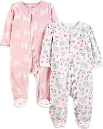 Simple Joys by Carters Pack de 2 peleles de forro polar para dormir y jugar para Bebé-Niña: Amazon.es: Ropa y accesorios