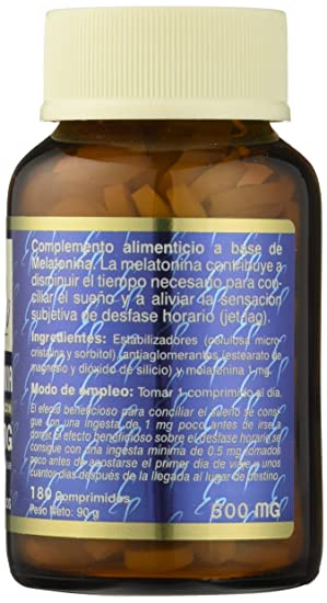 TONG-IL - MELATONINA 1mg 180comp ESTADO PURO: Amazon.es: Salud y cuidado personal