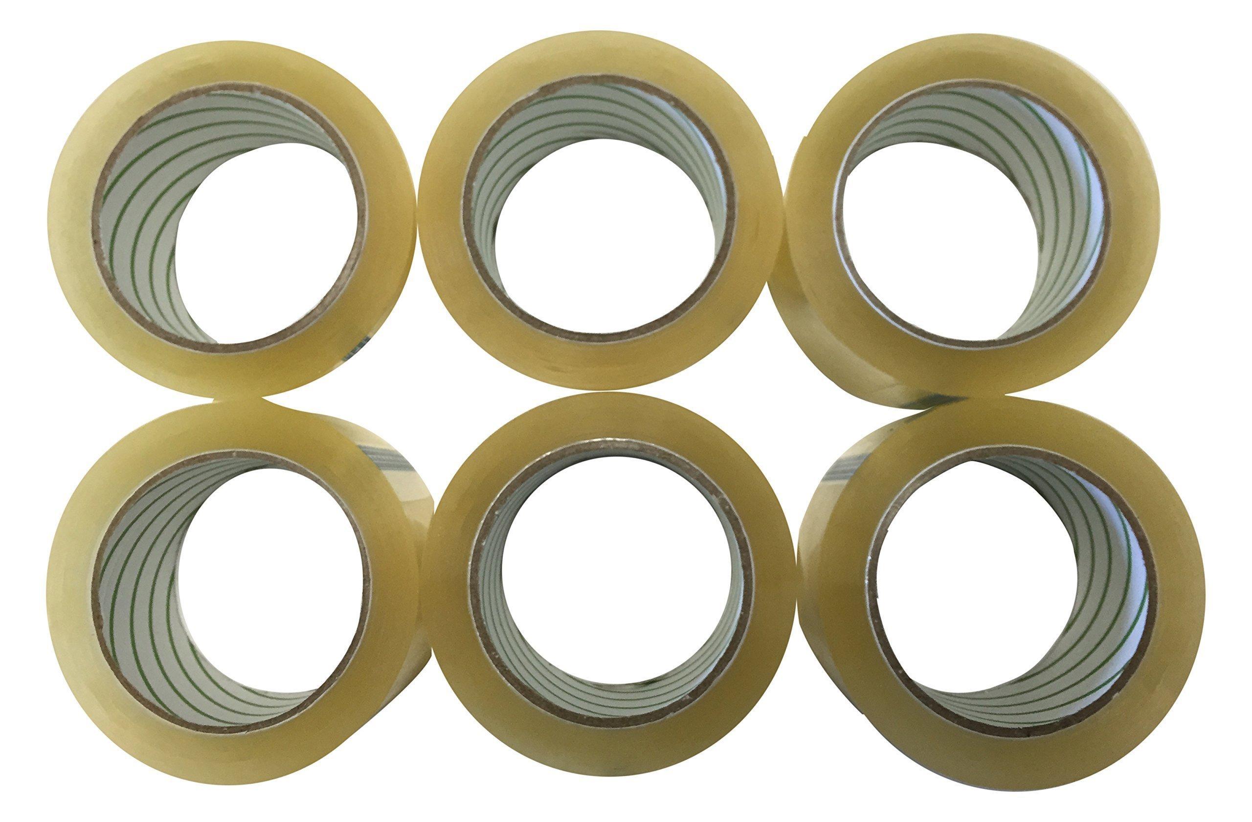 A+ Grade Clear Carton Sealing Tape, 6 Rolls, 110 yd, 2.0 Mile(330')