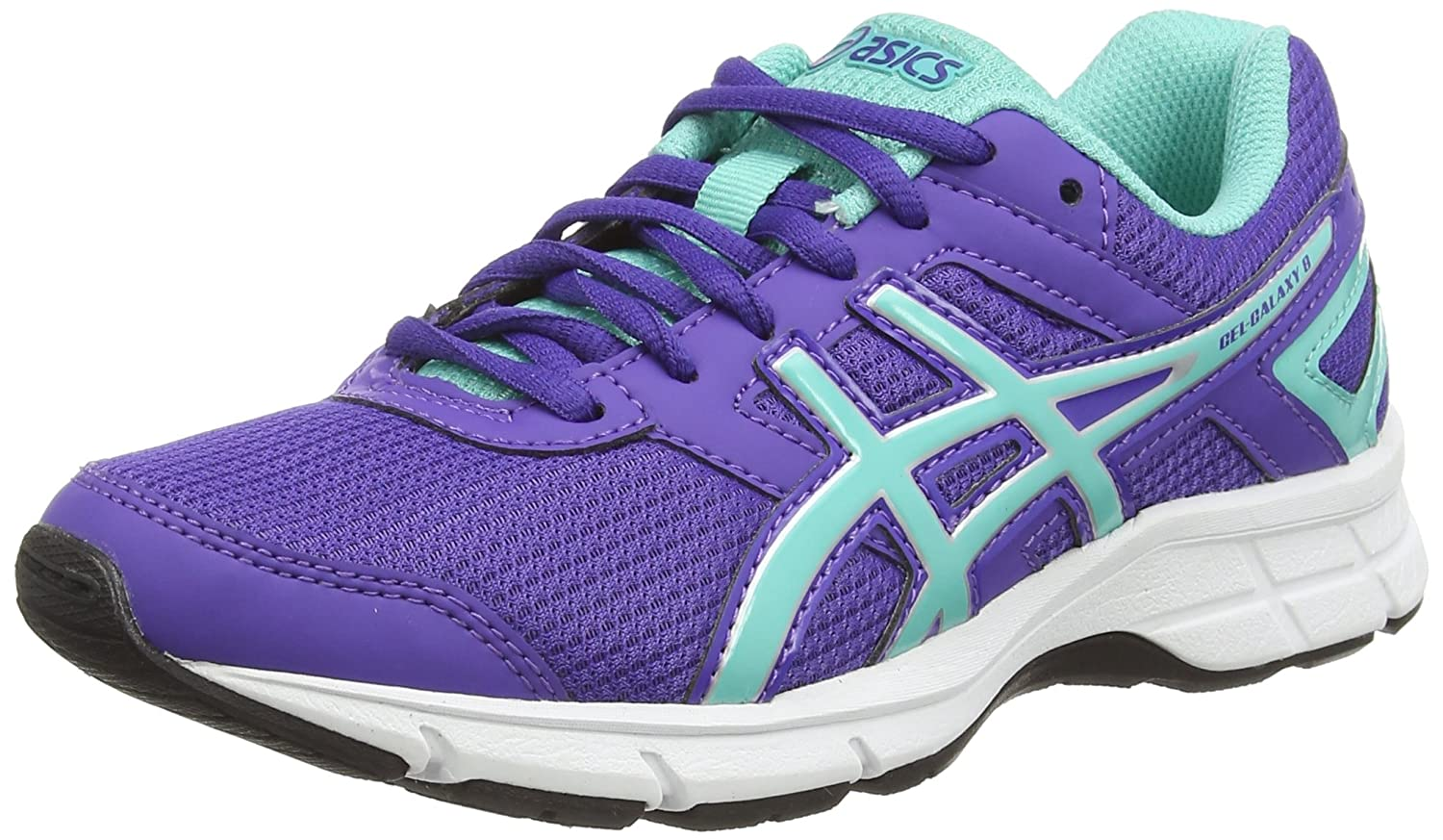 Asics Gel-Galaxy 8 GS - Zapatillas de Running para Niños, Color Negro (Black/Silver/Pink Glow 9093), Talla 33.5