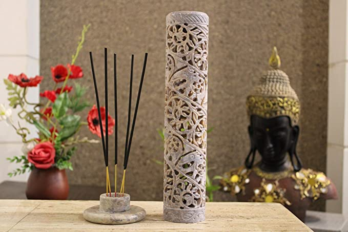 Details about  /Soapstone Elephant Ring Cone Incense Burner FREE SHIPPING