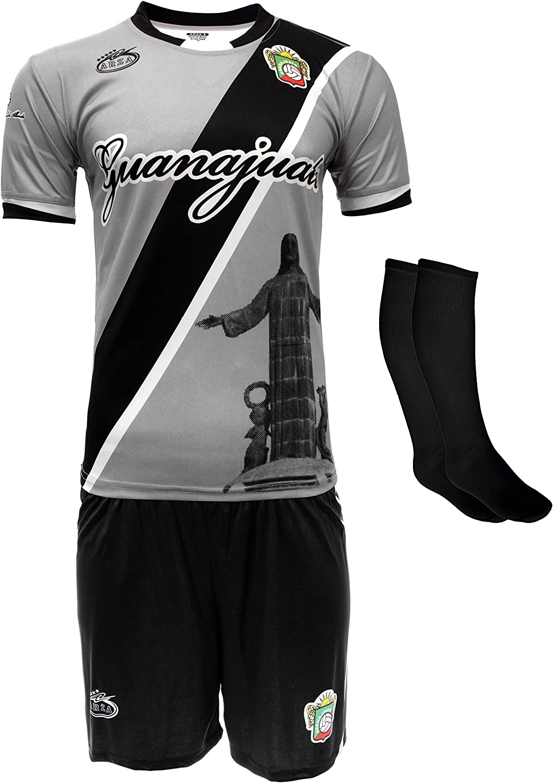 Arza Sport Guanajuato Mexico Uniform Color Black/Grey Jersey,Short,Socks and Number