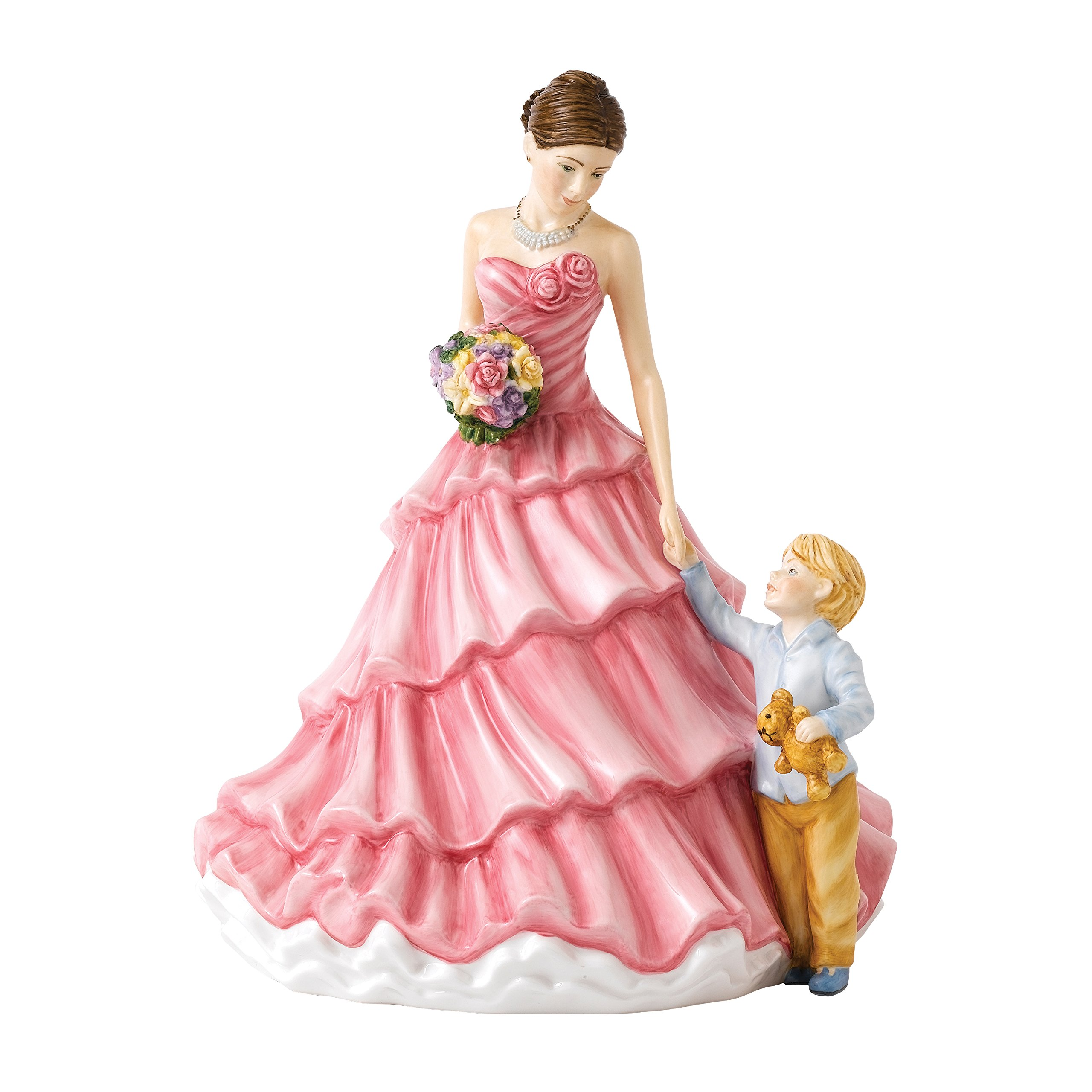Royal Doulton Annual FOY Mothers Figure of the Year 2018 Loving Moments 22cm Pink, Bone China