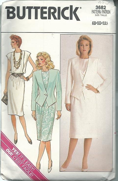 Butterick Patterns 3682 patrones de costura para chaqueta, falda ...