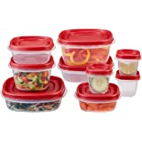 Rubbermaid Easy Find Lid 18-Piece Food Storage Container Set, Red