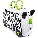 Trunki Zimba Zebra Valigia per bambini, 46 cm, Bianco