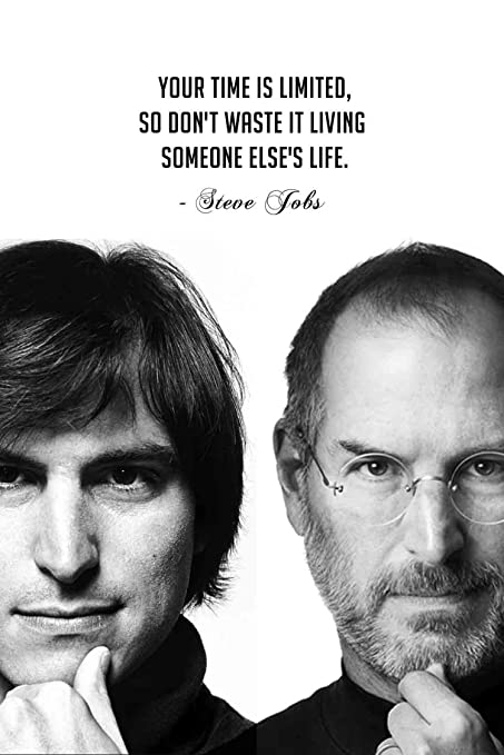 34998157e9c Posterboy 'Steve Jobs - Time is Limited' Poster: Amazon.in: Home & Kitchen