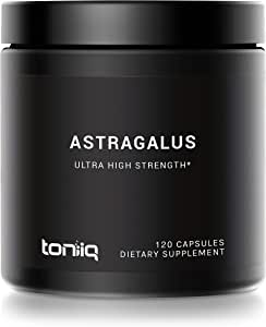 Ultra High Strength Astragalus Root Extract - 6,000mg 10x Concentrated Extract- 50% Polysaccharides - The Strongest Astragalus Supplement Available - 120 Astragalus Capsules