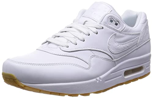 fbe57102568dd Nike Air Max 1 Leather PA White 705007-111 White 10.5 D(M) US: Buy Online  at Low Prices in India - Amazon.in