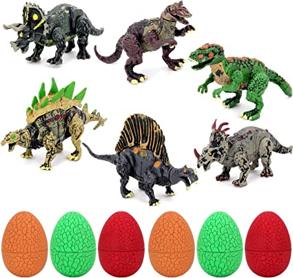Amazon.com: 6 huevos de dinosaurio, Tyrannosaurus Rex ...