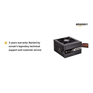 Corsair VS550 550W Active PFC 80 Plus Power Supply (Black)