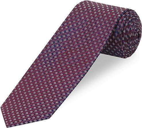 Cool Código Señor corbata, estampado – 100% seda borgoña Talla ...