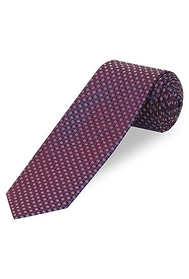 Cool Código Señor corbata, estampado - 100% seda borgoña Talla ...