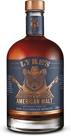 Lyres American Malt Bebida espirituosa sin alcohol - Estilo Bourbon | Premiado | 700ml