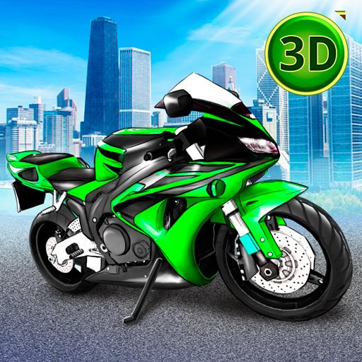 Motor Bike Urban City Traffic Parking Master Game For Teenagers ()