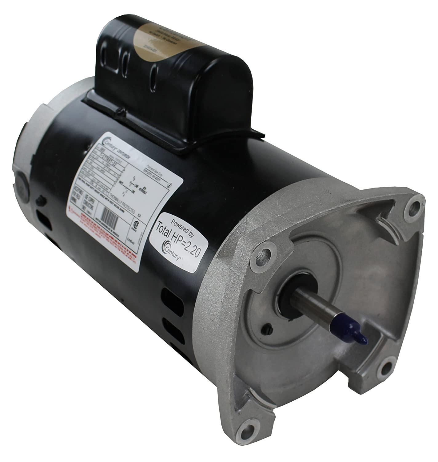 A o smith century b855 2 hp single speed 230v square for Pentair challenger pump motor