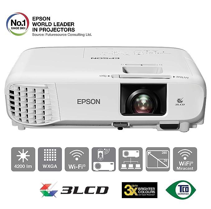 Epson EB-2142W Video - Proyector (4200 lúmenes ANSI, 3LCD, WXGA ...