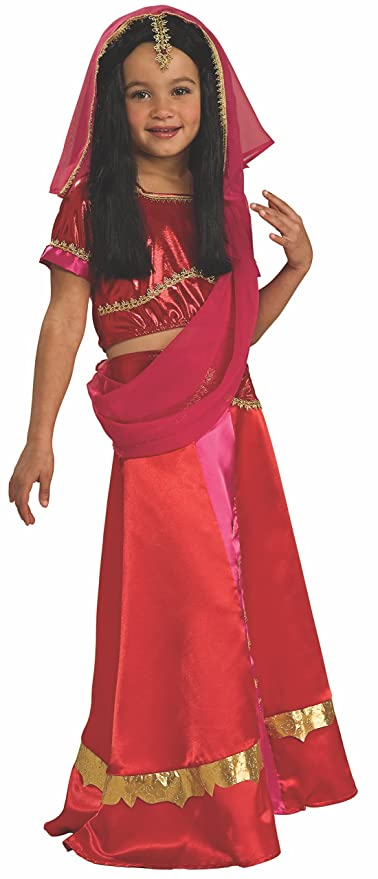 cf470ced23 Amazon.com: Rubie's Bollywood Princess Costume, Child's Medium: Toys & Games