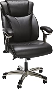 OFM ESS Collection Ergonomic Bonded Leather Office Chair, Executive, Brown
