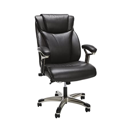 Essentials by OFM OFM Essentials Series Ergonomic Executive Bonded Leather Office Chair, in Brown ESS-6046-BRN ,