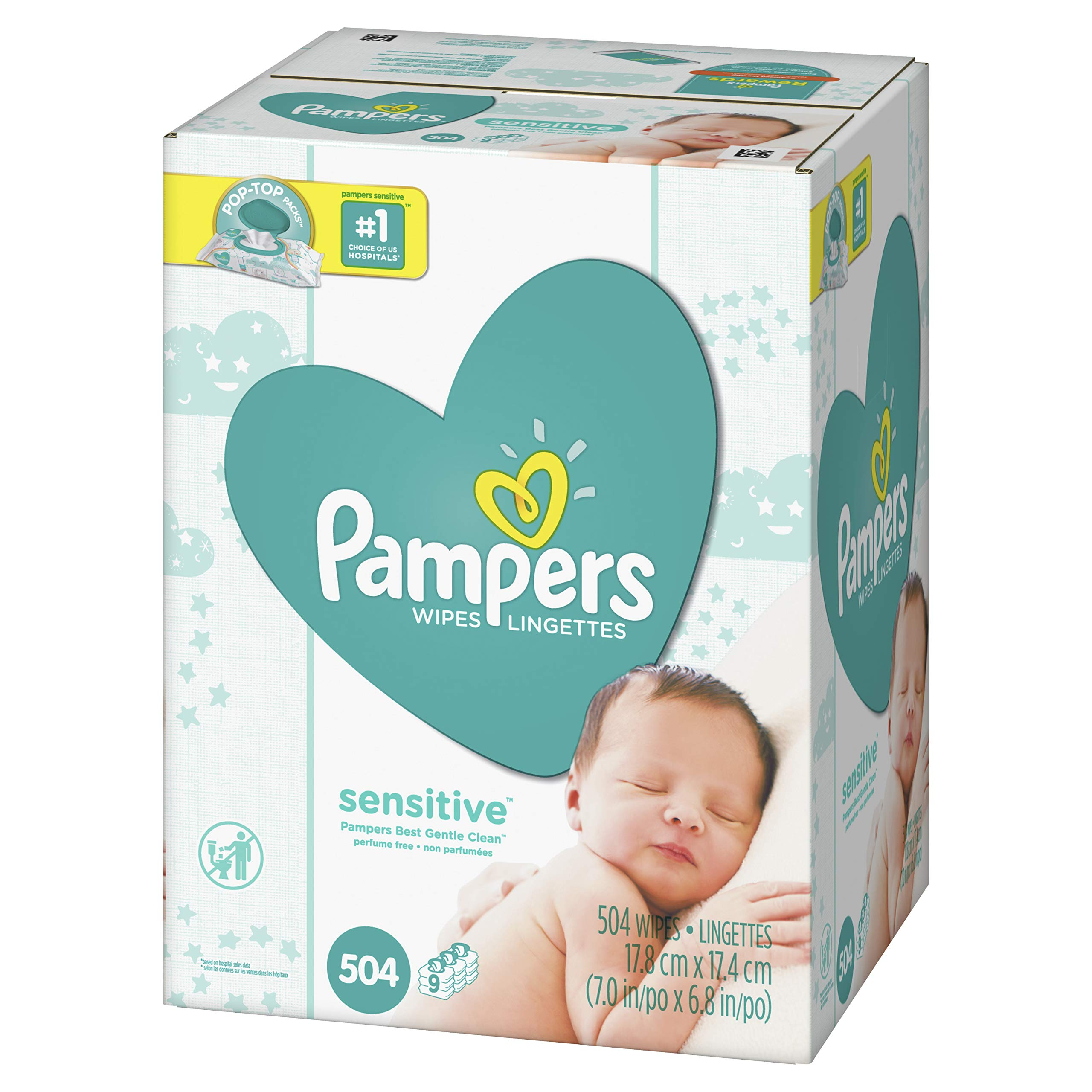 Pampers Sensitive Water-Based Baby Diaper Wipes