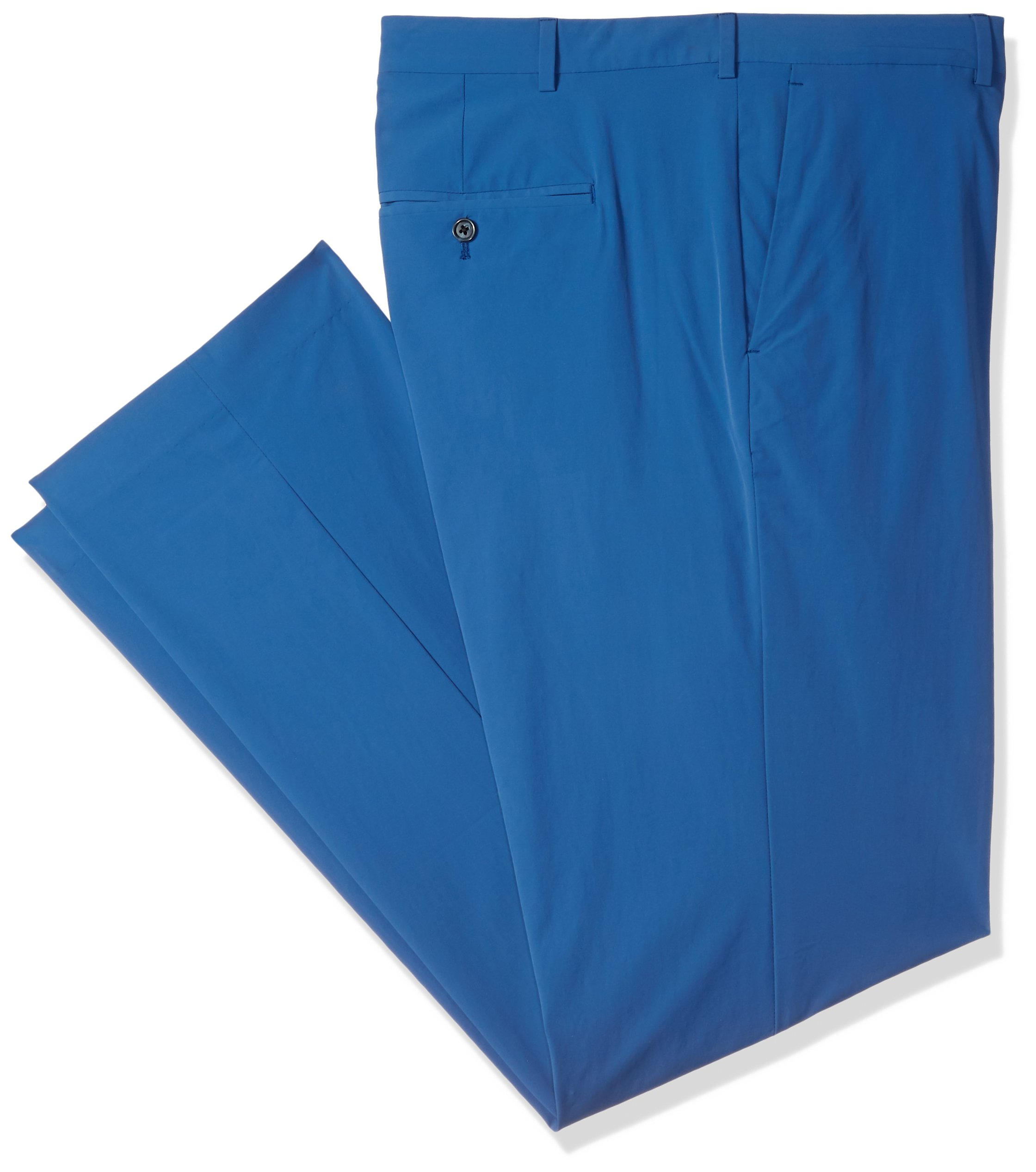 Perry Ellis Men's Big and Tall Solid Tech Chino, Bright Sapphire 996, 40W X 36L