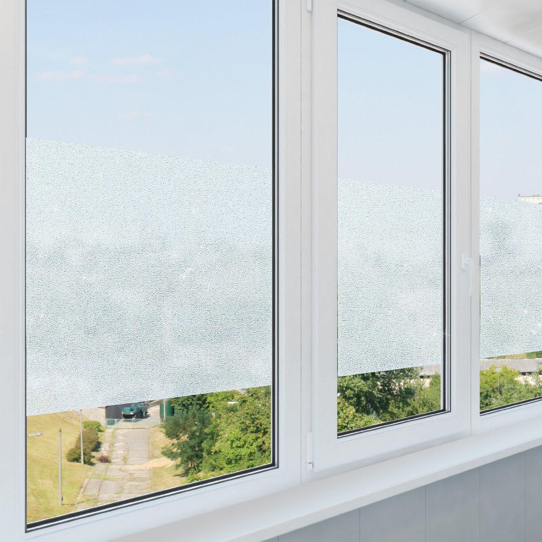 non adesiva Pellicola statica aderente pellicola per la privacy a effetto vetro opalino a effetto ghiaccio per finestre casa pura/® dimensioni: 43 cm x 300 cm