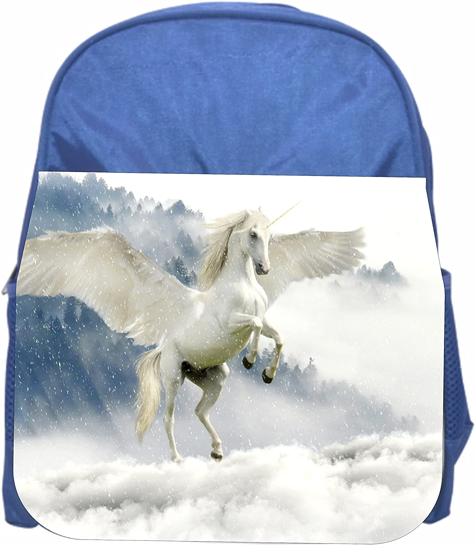 Girls Blue Preschool Toddler Kids Backpack /& Lunch Box Set Angel Unicorn