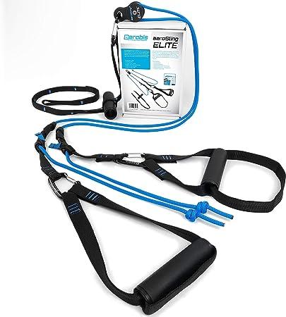 aeroSling Sling Trainer Elite, Suspension Trainer para el Entrenamiento de Todo el Cuerpo con su Propio Peso Corporal, Incluyendo DVD de Fitness ...
