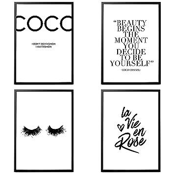Heimlich Premium Poster 4 Stück In Din A3 Viele Weitere Motive Im Shop Ohne Rahmen Coco Chanel