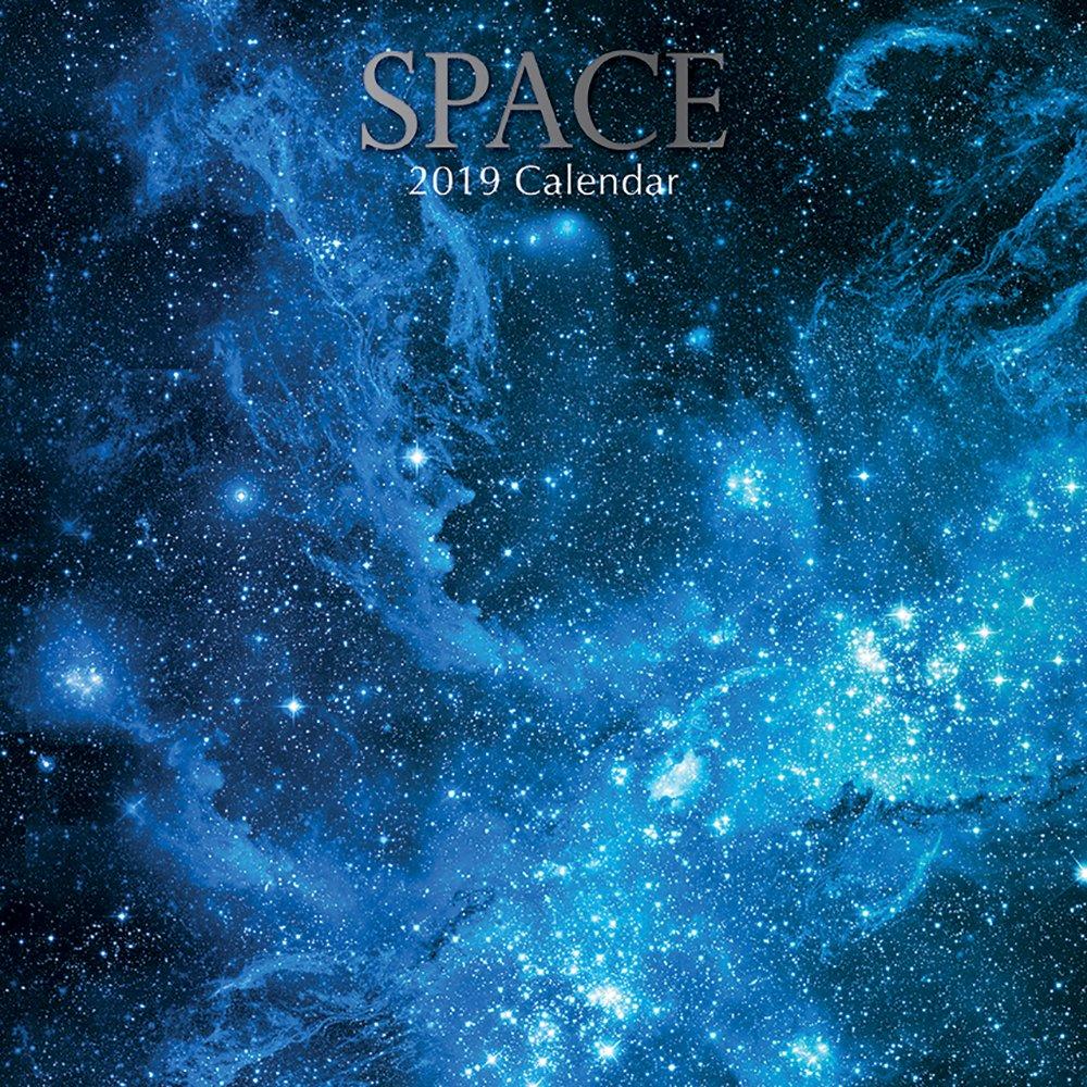 2019 Space - 30 X 30 Cm Calendario Da Parete In Inglese The Gifted Stationary