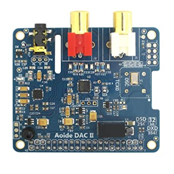 DollaTek Tarjeta de Sonido DAC II HiFi | ES9018K2M | 384 kHz / 32 bits | High-Resolutio | Formato DSD Compatible | para Raspberry Pi 3 Modelo B / 3B / ...