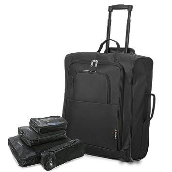 f0b349a0d 5 Cities - Equipaje de mano unisex adulto, Black Easyjet/BA 56cm MAX +  Packing Cube (Negro) - TB024: Amazon.es: Equipaje