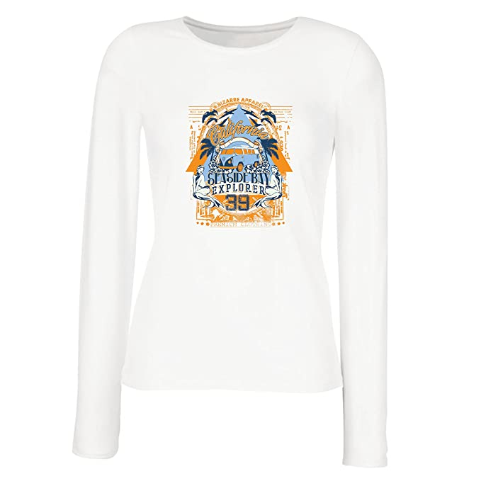 lepni.me Camisetas de Manga Larga para Mujer Primer Día de California - Explorador de la Bahía Costera - Ropa de Surf: Amazon.es: Ropa y accesorios