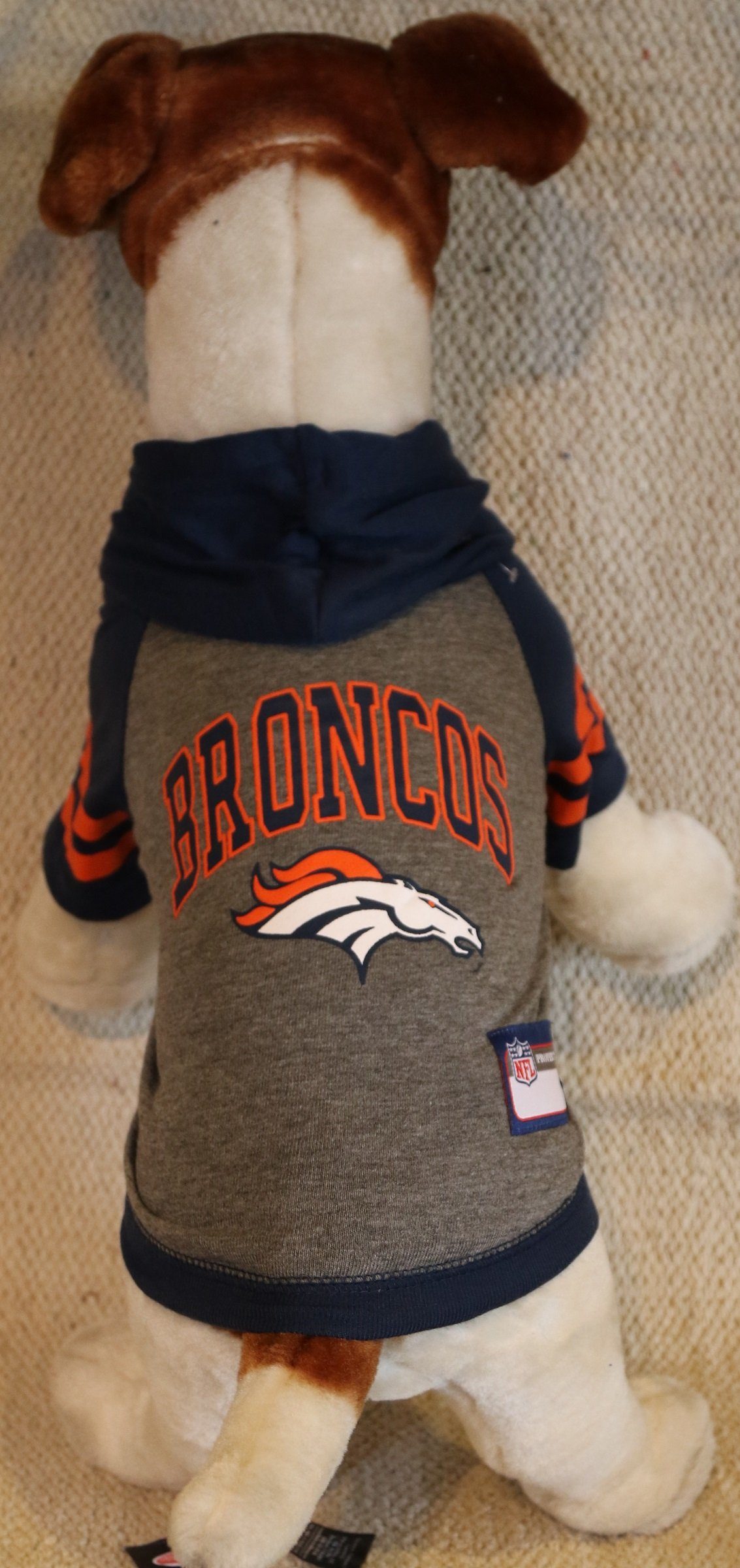 DENVER BRONCOS DOG PET HOODIE SWEATER ALL SIZES LICENSED NFL (Small)