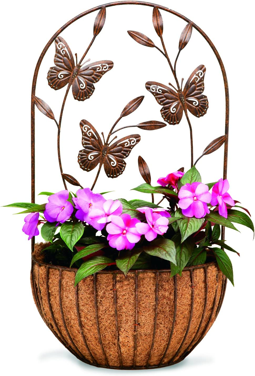 Deer Park Ironworks WB146 Park Ironworks Butterfly Wall Planter with Coco Liner