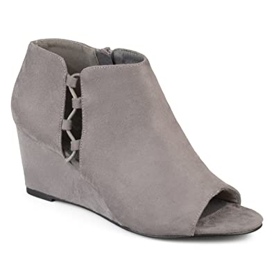 Journee Collection Cut-Out ... Open Toe Women's Wedge Heels