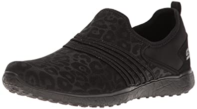 Skechers Sport Frauen Microburst Underwraps Fashion Sneaker, schwarz / wei, Schwarz, 39 EU