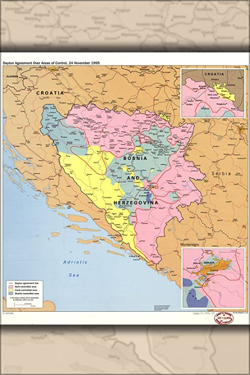 Amazon.com : 16x24 Poster; Cia Map Dayton Agreement Bosnia ... on
